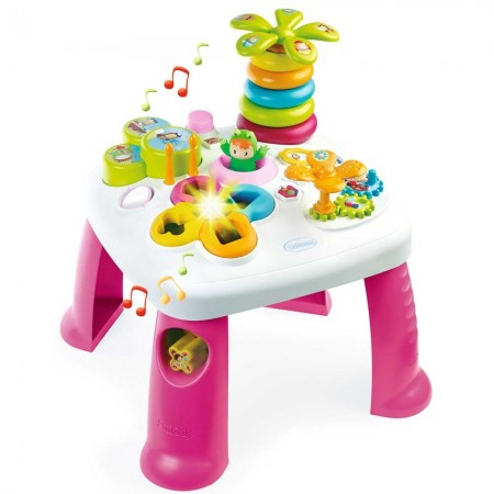 Masa educativa Smoby Cotoons roz cu efecte sonore si luminoase