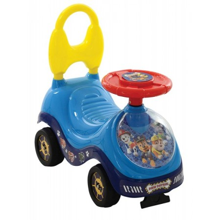 Masinuta de impins pentru copii Paw Patrol fara pedale cu spatar si volan