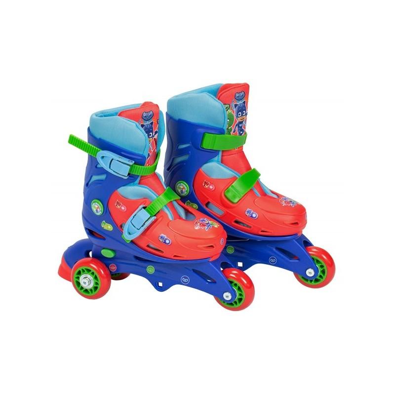 Role pentru copii cu 3 roti Saica 2943  Eroi in Pijamale Pj Mask marime reglabila 31-34 roti interschimbabile frana de picior