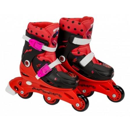 Role pentru copii cu 3 roti Saica 5832 Ladybug Buburuza Miraculoasa marime reglabila 28-31 roti interschimbabile frana de picior
