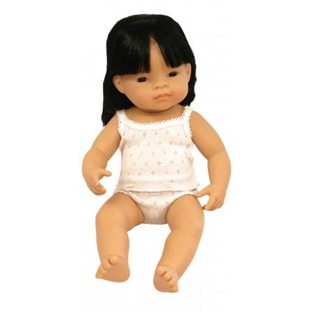 Papusa fetita asiatica Miniland 38 cm