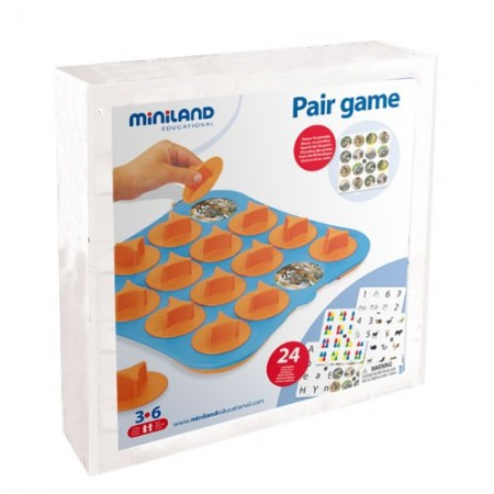 Joc de memorie 24 activitati cu 4 table de joc  Miniland
