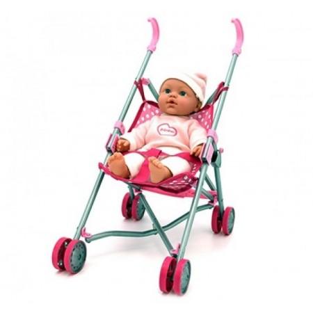 Papusa Bebe cu carucior GLOBO BIMBO