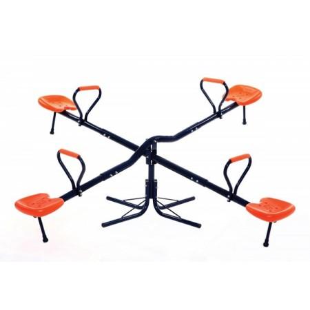 Balansoar Copii.Balansoar Dublu Pentru Exterior Din Metal Rotire 360 Grade